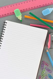 Office Supplies with Notebook as copyspace Royalty Free Stock Photos