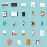 Office supplies objects Stock Photo