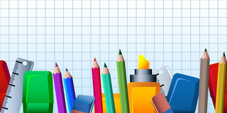 Office supplies pattern Stock Images
