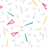 Office supplies pattern Royalty Free Stock Photography