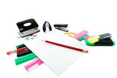 Office supplies in a pile Stock Photography