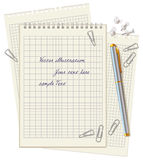Office supplies scattered on the desktop Royalty Free Stock Photo