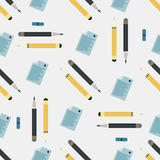 Office supplies seamless colored background Royalty Free Stock Images