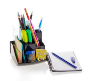 Office supplies and sketchpad Royalty Free Stock Photography