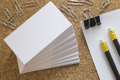 Office supplies. Stationery on the table in black Royalty Free Stock Photography