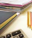 Office supplies on the table Royalty Free Stock Image