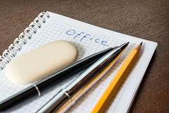 Office supplies on the table Stock Photos