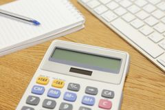 Office supplies on the table Royalty Free Stock Photo