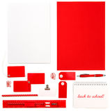 Office supplies, tools and papers. Back to school Stock Photography