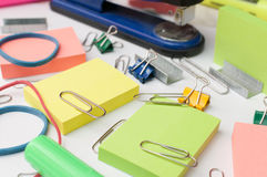Office Supplies. Used everyday in the office Royalty Free Stock Photo