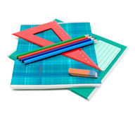 Office supplies on white background Stock Image