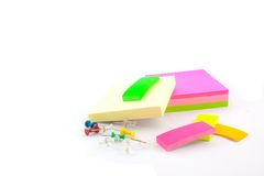 Office supplies on a white background. Color office supplies on a white background Stock Images