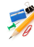 Office supplies on white background Royalty Free Stock Images