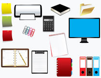 Office Supplies. On white background. Vector illustration Royalty Free Stock Photography
