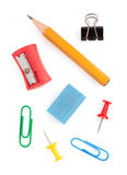 Office supplies on white Royalty Free Stock Photography