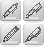 Office Supply. Icons Set (part of the Platinum Squared 2D Icons Set Royalty Free Stock Photos
