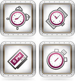 Office Supply. Icons Set (part of the 2 Colors Chrome Icons Set Stock Photography