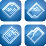 Office Supply. Icons Set (part of the Cobalt Squared 2D Icons Set Royalty Free Stock Photo
