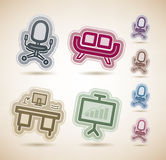 Office Supply. Objects, from left to right, top to bottom Royalty Free Stock Image