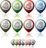 Office Supply. Objects (multicolor icons) from left to right Royalty Free Stock Images