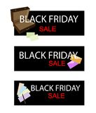 Office Supply on Black Friday Sale Banner Stock Photography