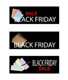 Office Supply on Black Friday Sale Labels Stock Images