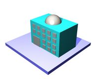 Office - Supply Chain Management Series. 3d art of an office building. Series for supply chain management diagrams and charts stock illustration