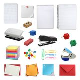 Office supply collection Royalty Free Stock Photo