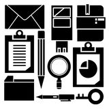 Office supply. Collection of office supply in white background Stock Images