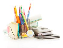 Office supply, diary and notepad, exercise book Royalty Free Stock Images