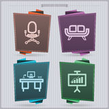 Office Supply. House related Objects from left to right Royalty Free Stock Photos