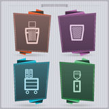 Office Supply. House related Objects from left to right Stock Photos