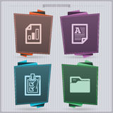 Office Supply. House related Objects from left to right Stock Photo