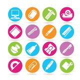Office supply icons Royalty Free Stock Photography