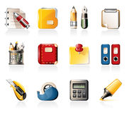 Office supply icons Stock Images