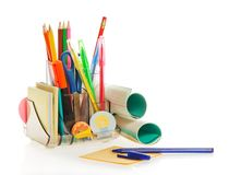 Office Supply, Leaf For Notes And The Handle Royalty Free Stock Photos