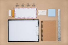 Office Supply of stationary in everyday life,  Plan work Royalty Free Stock Photos