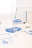 Office supply on table before business meeting Royalty Free Stock Photos