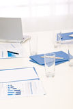 Office supply on table before business meeting Stock Photography