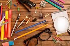 Office supply on table Royalty Free Stock Image