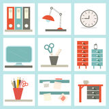 Office Supply Vector Illustration Stock Photography