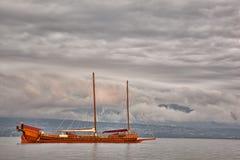 Office sur le lac Genève Photos stock