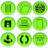 Office symbols Royalty Free Stock Image