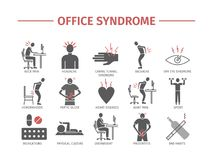 Office syndrome infographic Stock Photos