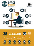 Office syndrome Infographics. Stock Photo
