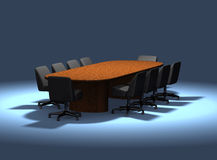 Office - Table and Chairs Royalty Free Stock Photography