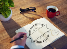 Office Table with Copy Space Royalty Free Stock Photo