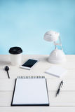 Office table and equipment Stock Images