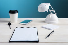 Office table and equipment Royalty Free Stock Image