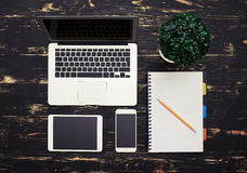 Office table with gadgets Stock Photography